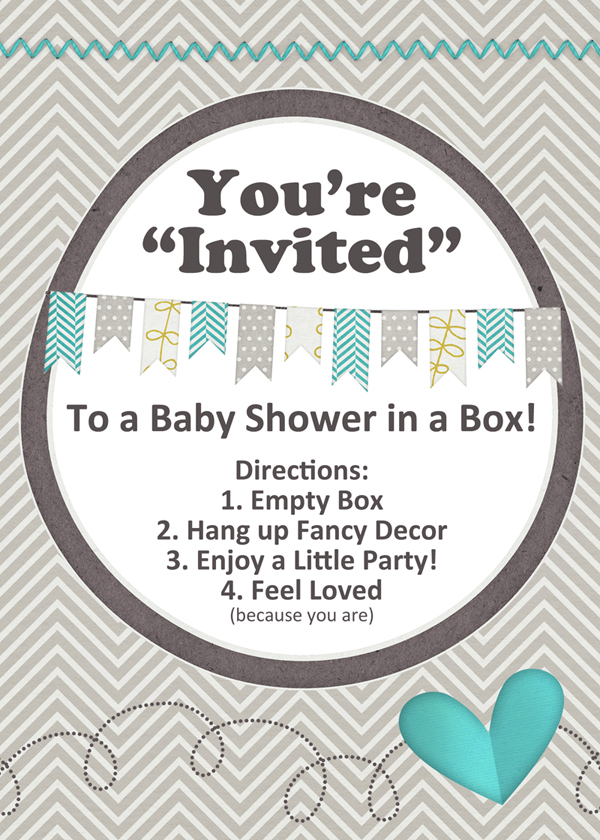 baby shower in a box diy