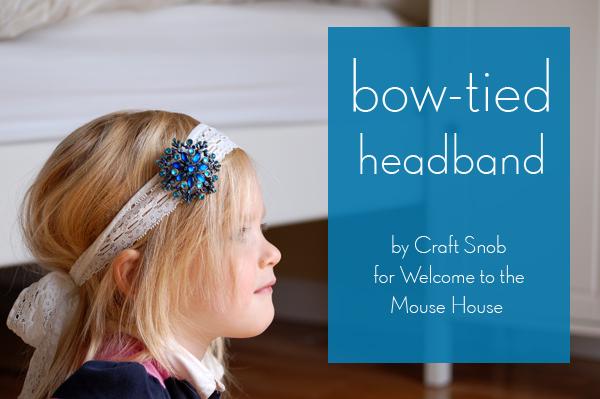 Bow-tied headband
