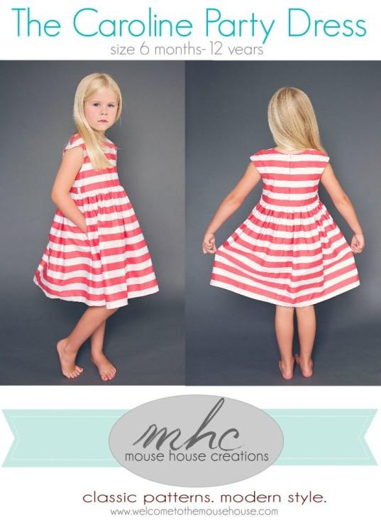 Caroline Party Dress opening
