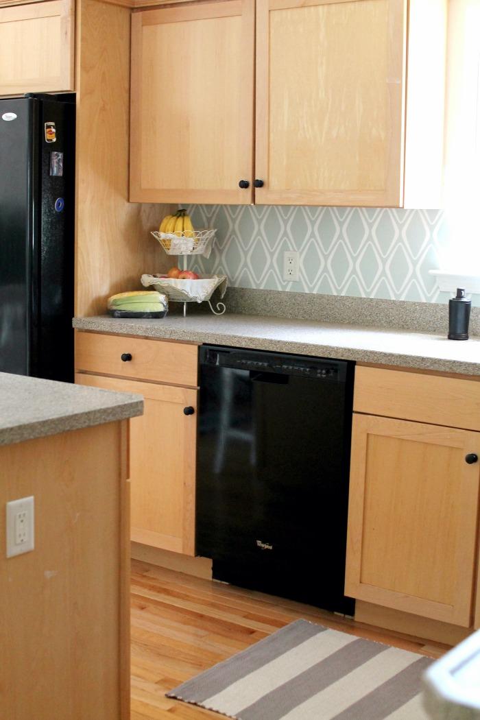 Easy kitchen backsplash 30 target wallpaper for Vinyl wallpaper backsplash