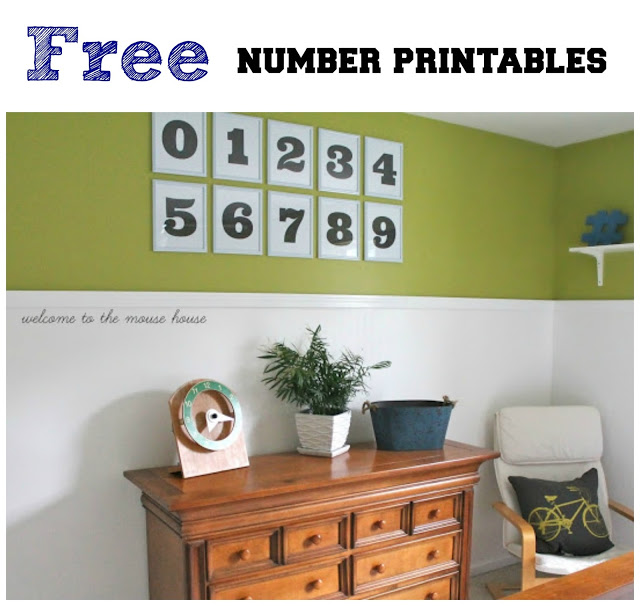 Free Number Printables: Wall Art
