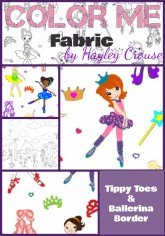 Color Me Fabric Ballerina Collage