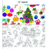 Color Me Fabric Christmas