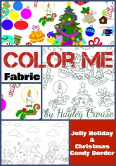 Color Me Fabric Christmas Collage