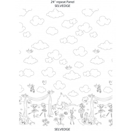 color me fabric ballerina border