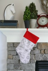color me stocking fireplace