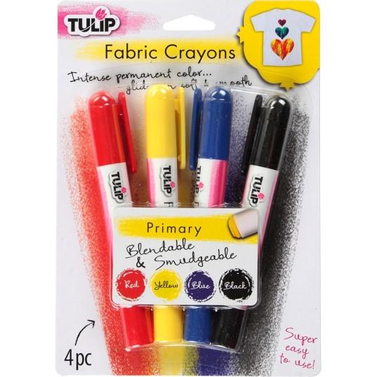 tulip fabric crayons primary