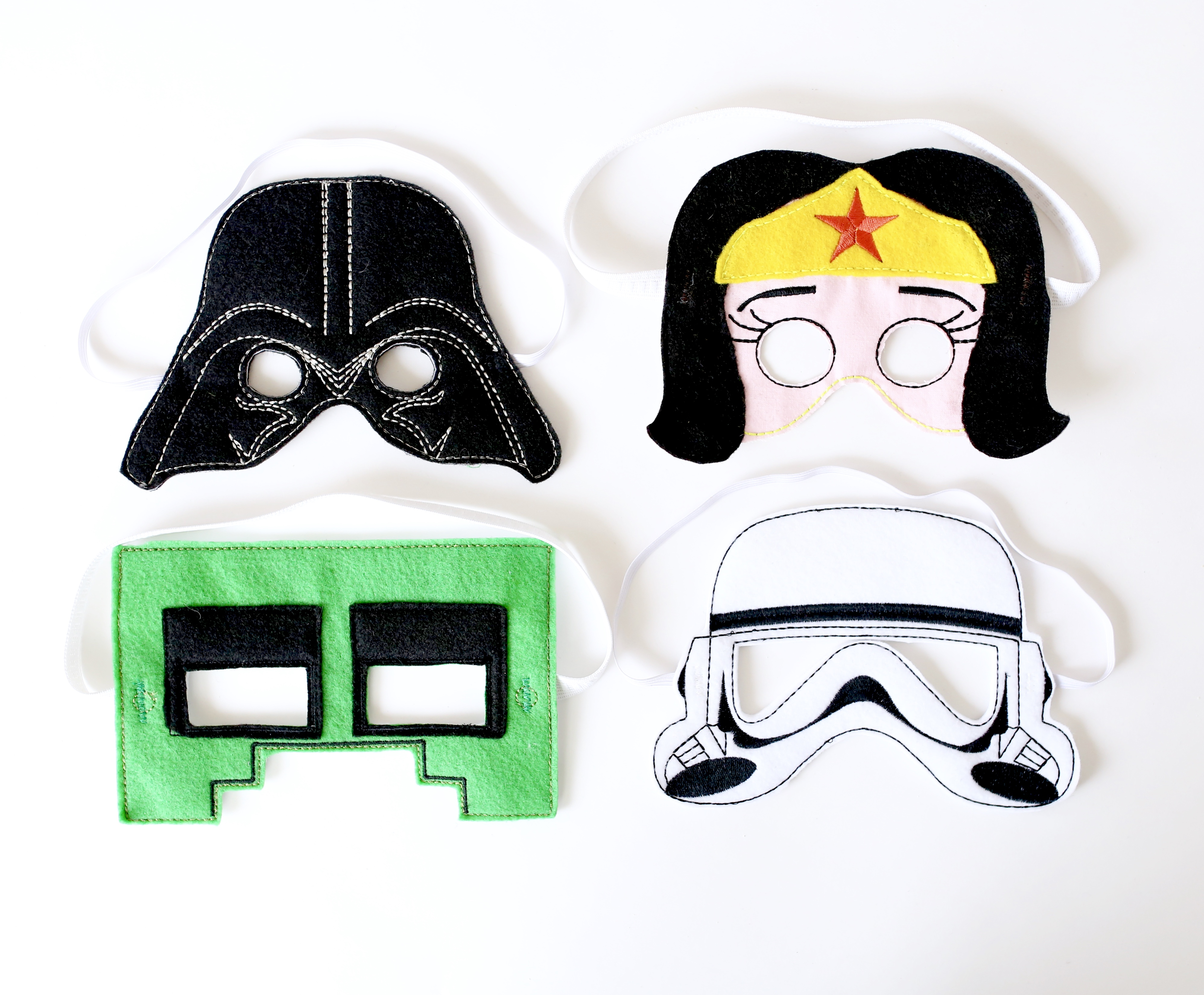 Super Hero Masks: ITHEmbroidery Janome Memory Craft 500e 2