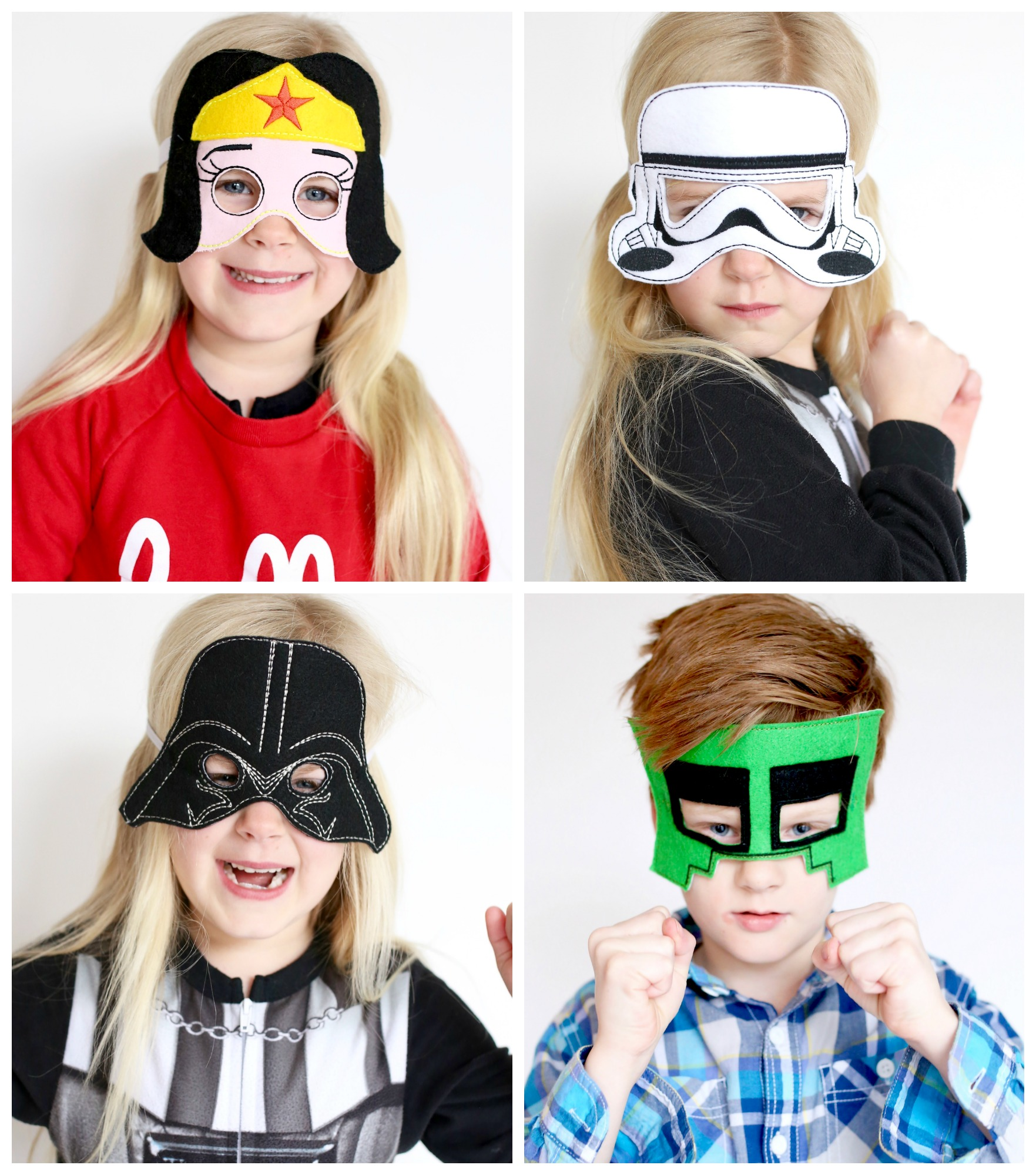 Super Hero Masks: ITHEmbroidery Janome Memory Craft 500e