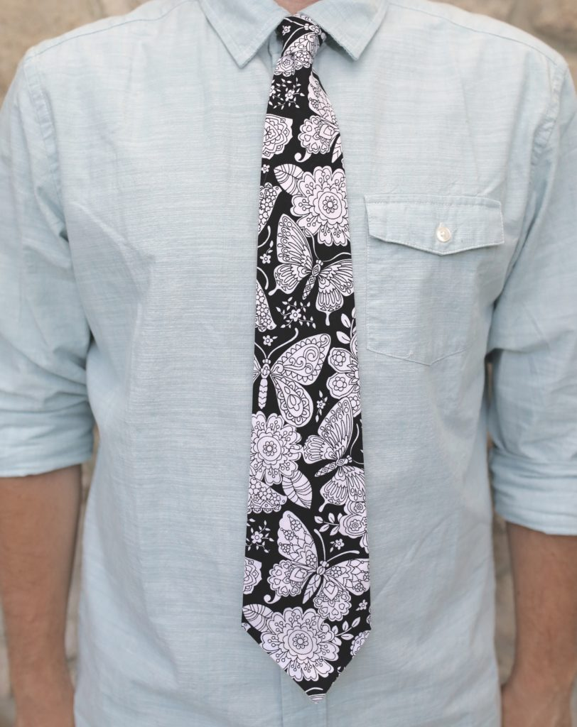 Color Me Tie: Butterflies on Black