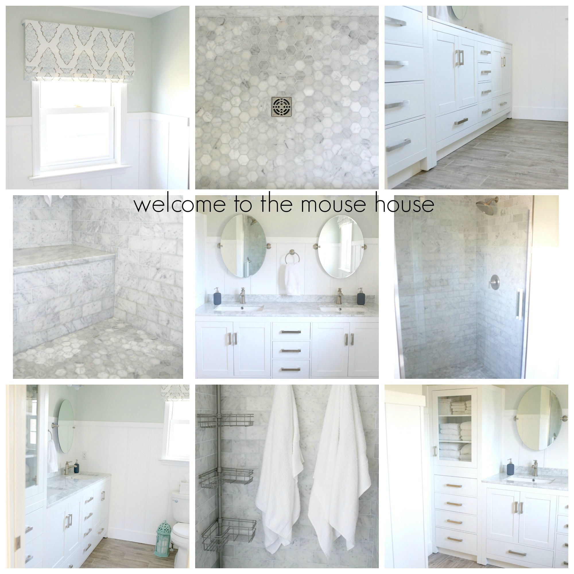 master bath collage
