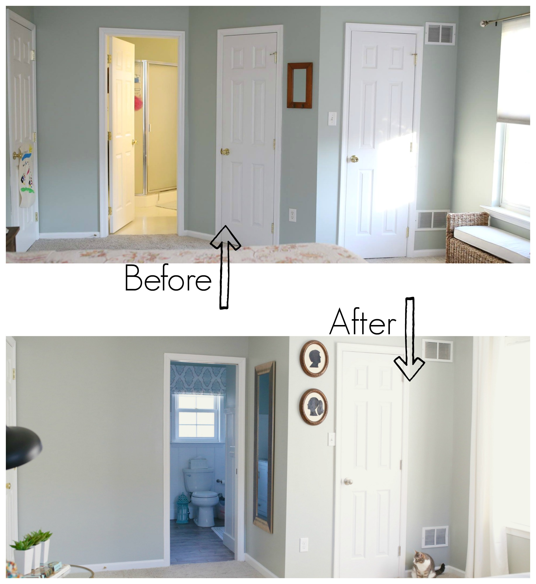 master bathroom before after
