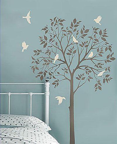 Tree-Stencil-Birds