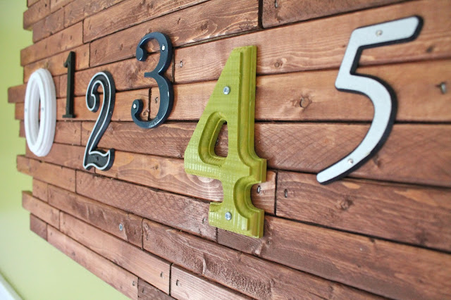 Wooden Number Wall Art: Tutorial - welcometothemousehouse.com