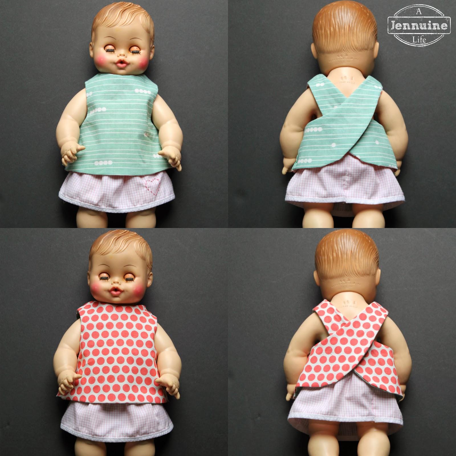Reversible Doll Pinafore Pattern Little Stitchers