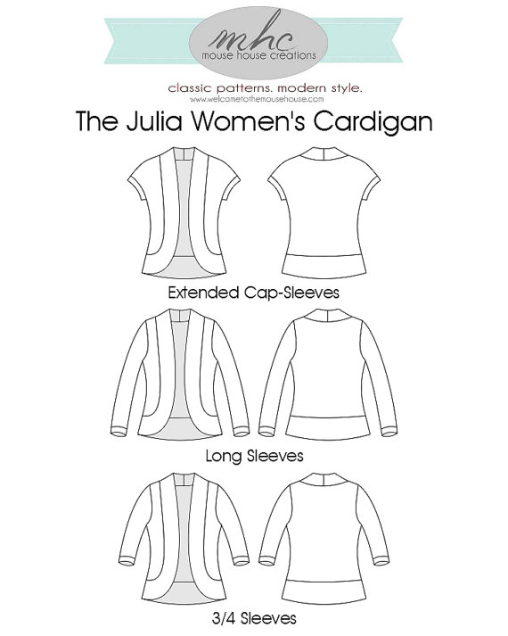 Julia Women's Cardigan Welcometothemousehouse Inspiration Cardigan Pattern