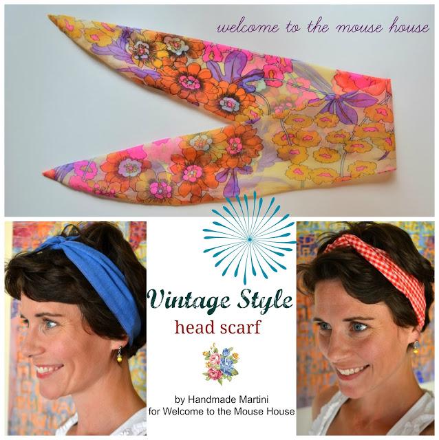Vintage Inspired Head Scarf Tutorial