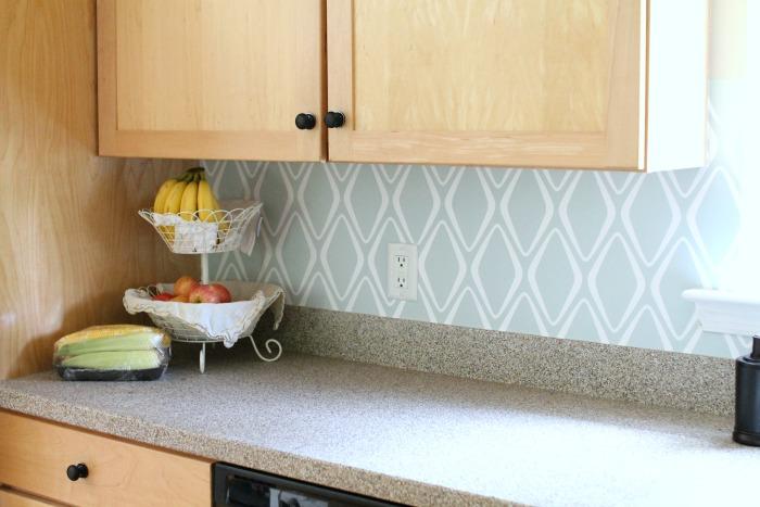 Easy Kitchen Backsplash: $30 Target Wallpaper ...
