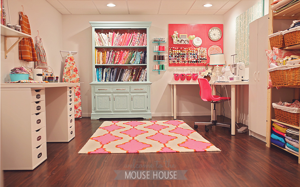 A basement playroom for Sewing room floor plans